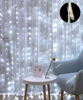Купить Водоспад- лінза 8мм  320 LED 3m*2m білий