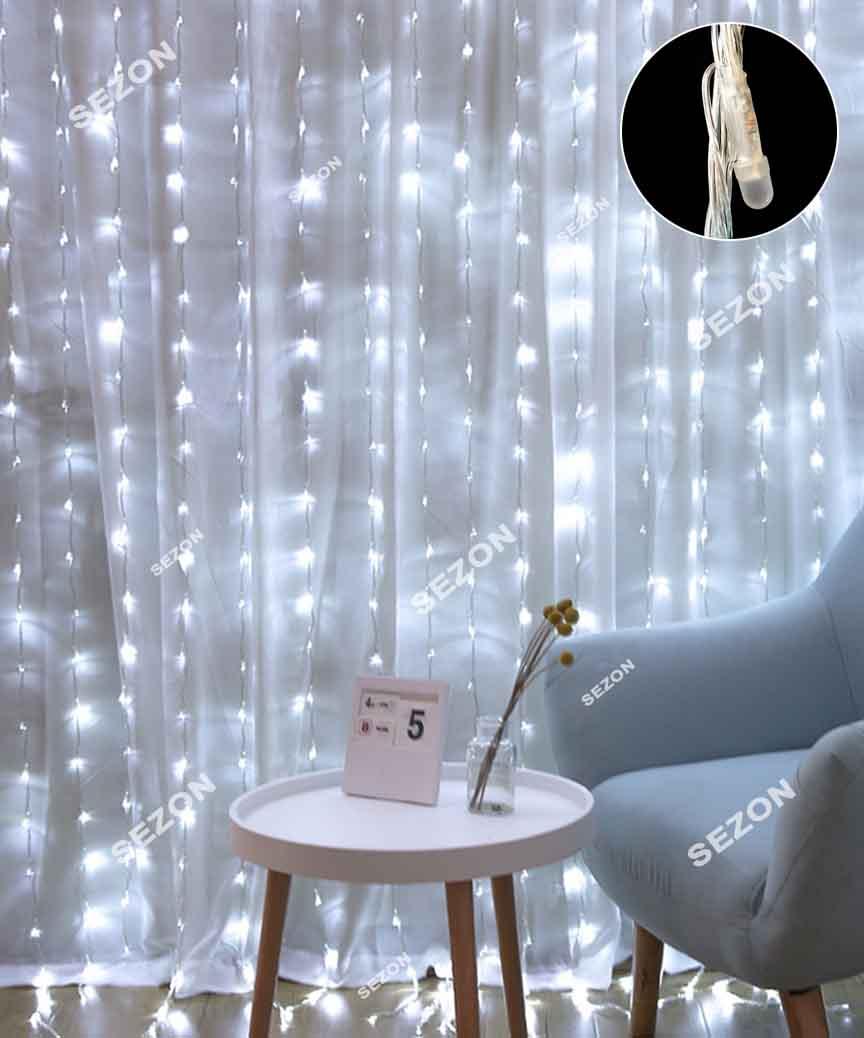 Водоспад- лінза 8мм  720 LED 3m*3m білий