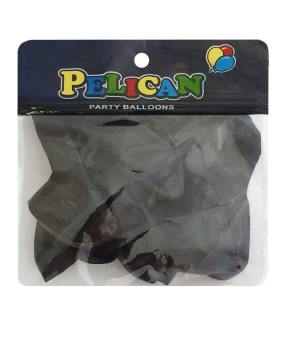 Купить Шарики Pelican 10' (26 см), перламутр черный, 10шт/уп