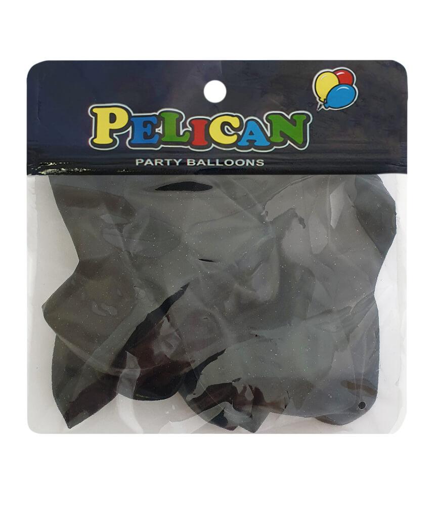 Шарики Pelican 10' (26 см), перламутр черный 1010-702, 10шт/уп