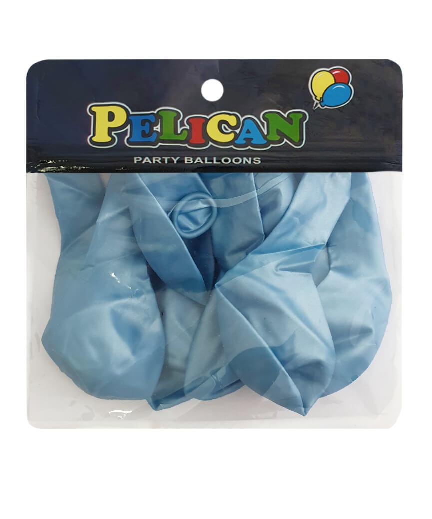 Шарики Pelican 10' (26 см), перламутр голубой 1010-706, 10шт/уп