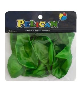 Купить Шарики Pelican 10' (26 см), перламутр зеленый, 10шт/уп