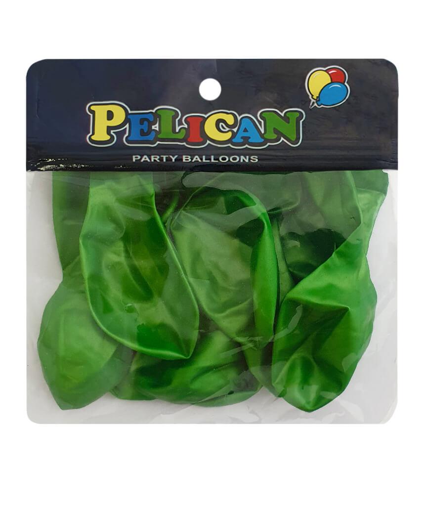 Шарики Pelican 10' (26 см), перламутр зеленый 1010-713, 10шт/уп
