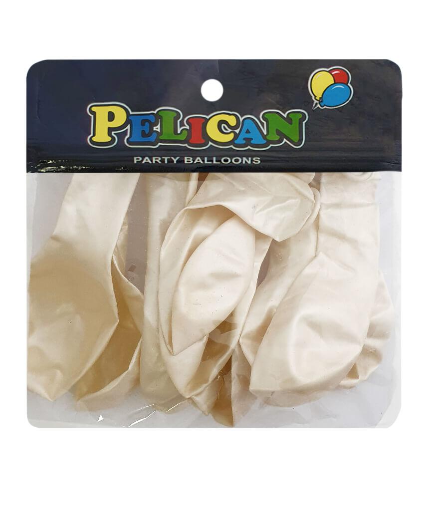 Шарики Pelican 10' (26 см), перламутр белый 1010-721, 10шт/уп