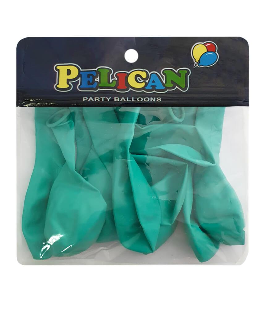 Шарики Pelican 10' (26 см), пастель бирюзовый 1010-806, 10шт/уп