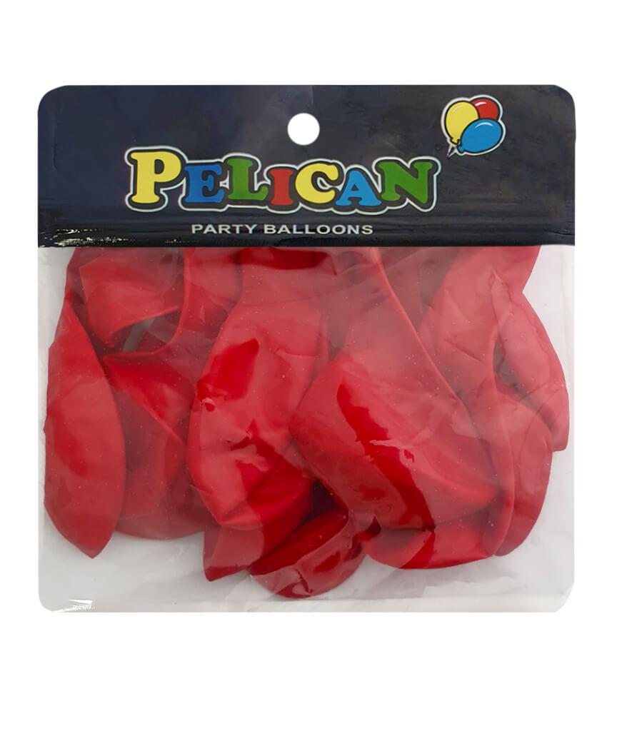 Шарики Pelican 10' (26 см), пастель красный 1010-812, 10шт/уп