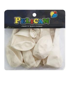 Купить Шарики Pelican 10' (26 см), пастель белый 1010-822, 10шт/уп