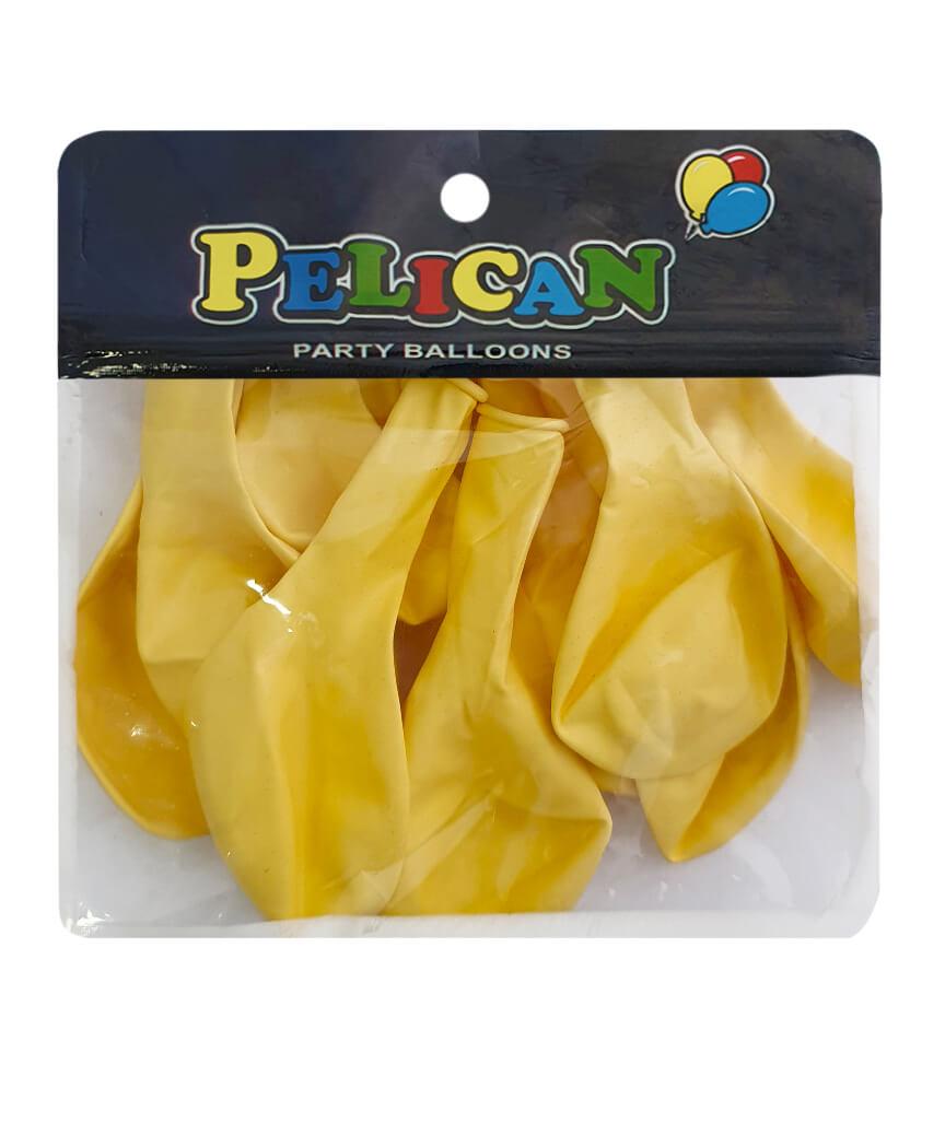 Шарики Pelican 10' (26 см), макарун желтый 1010-901, 10шт/уп