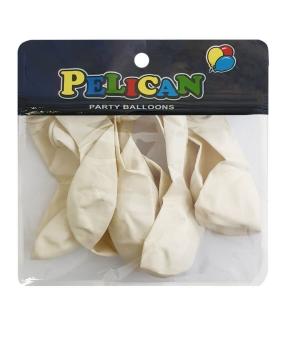 Купить Шарики Pelican 10' (26 см), макарун белый 1010-907, 10шт/уп