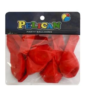 Купить Шарики Pelican 10' (26 см), макарун красный 1010-909, 10шт/уп
