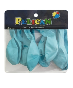 Купить Шарики Pelican 10' (26 см), макарун голубой 1010-910, 10шт/уп