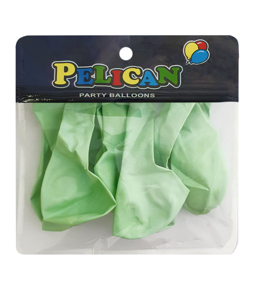 Шарики Pelican 10' (26 см), макарун зеленый 1010-911, 10шт/уп