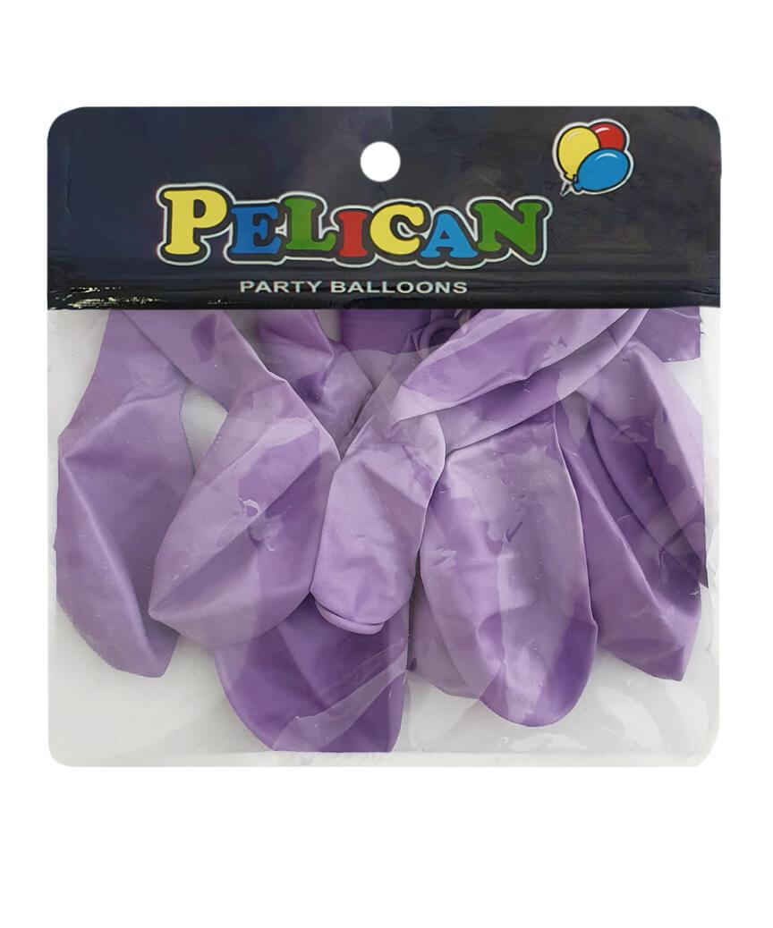 Шарики Pelican 10' (26 см), макарун фиолетовый светлый 1010-913, 10шт/уп