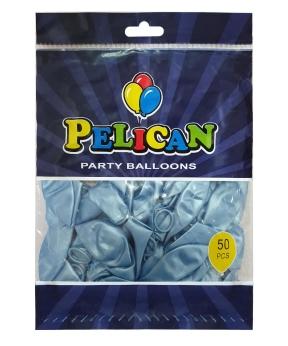 Купить Шарики Pelican 10' (26 см), перламутр голубой 1050-706, 50шт/уп