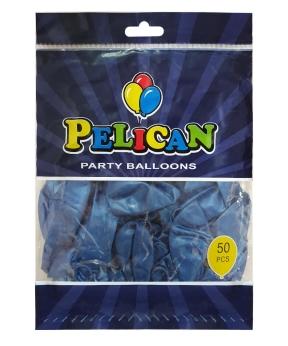 Купить Шарики Pelican 10' (26 см), перламутр синий 1050-707, 50шт/уп