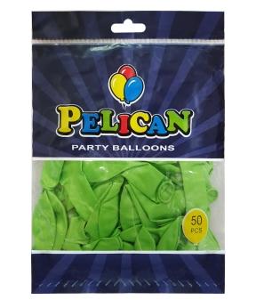 Купить Шарики Pelican 10' (26 см), перламутр зеленый светлый 1050-714, 50шт/уп