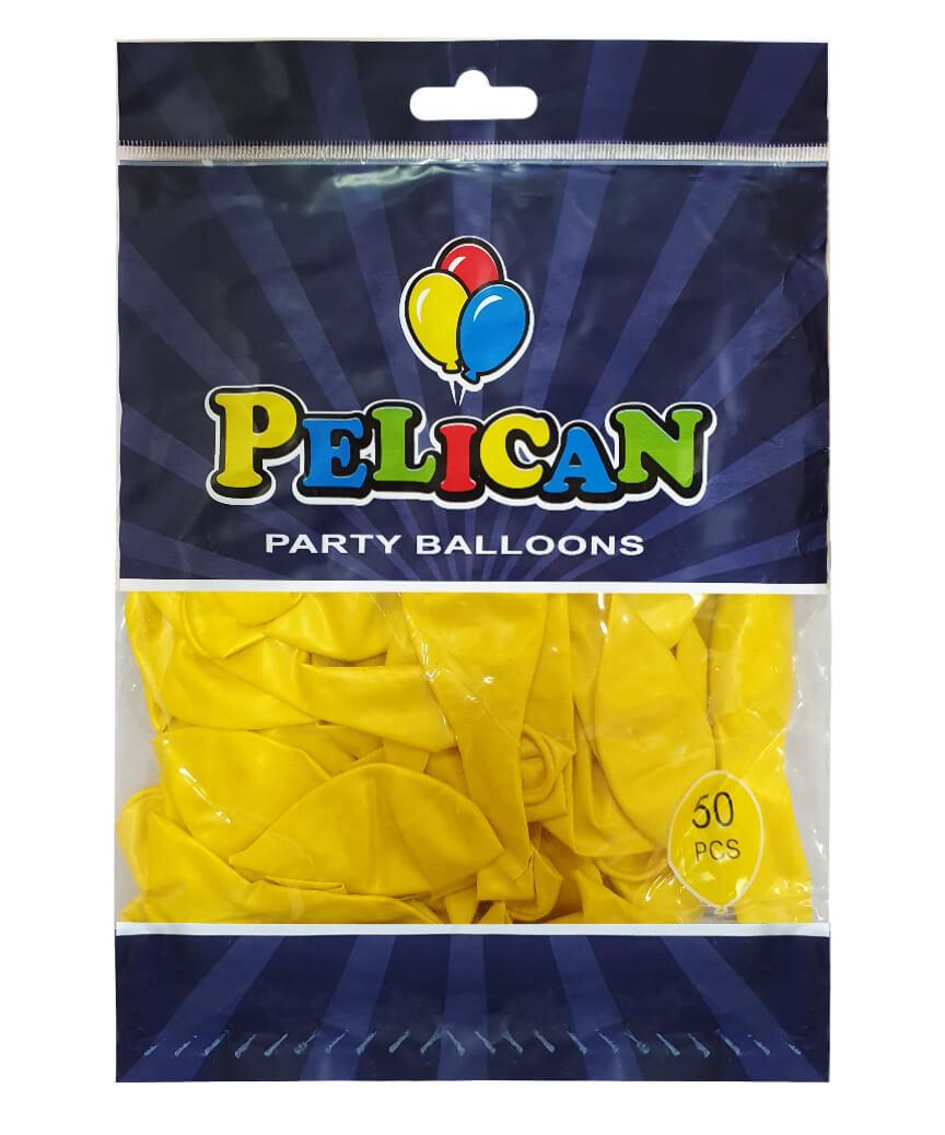 Шарики Pelican 10' (26 см), перламутр желтый 1050-716, 50шт/уп