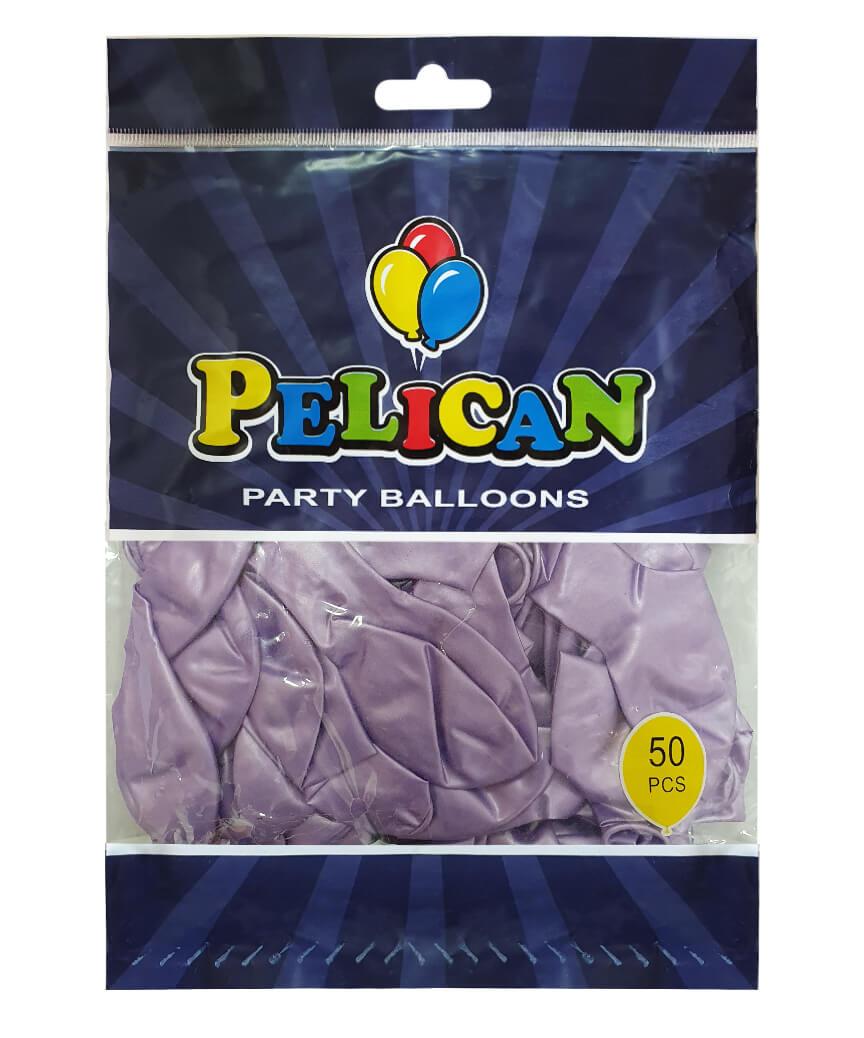 Шарики Pelican 10' (26 см), перламутр фиолетовый светлый 1050-718, 50шт/уп