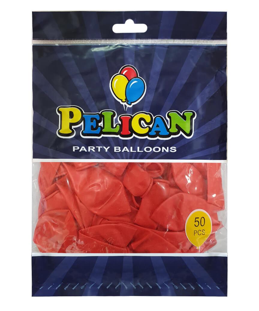 Шарики Pelican 10' (26 см), перламутр красный 1050-719, 50шт/уп