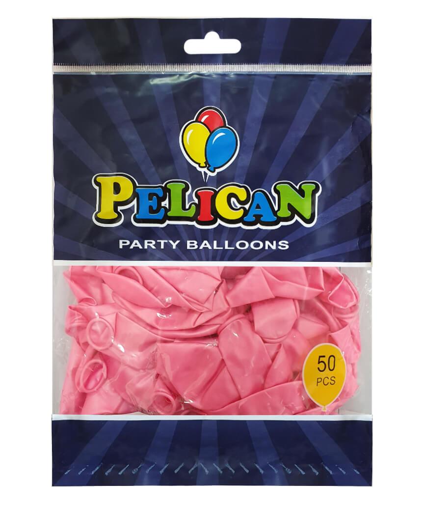 Шарики Pelican 10' (26 см), перламутр розовый 1050-720, 50шт/уп