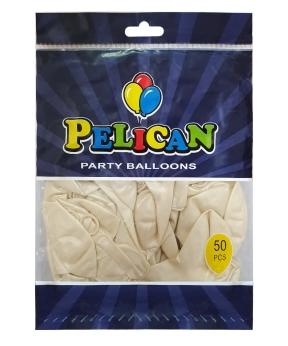 Купить Шарики Pelican 10' (26 см), перламутр белый 1050-721, 50шт/уп
