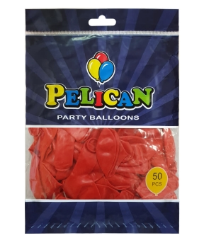 Купить Шарики Pelican 10' (26 см), перламутр красный2 1050-731, 50шт/уп