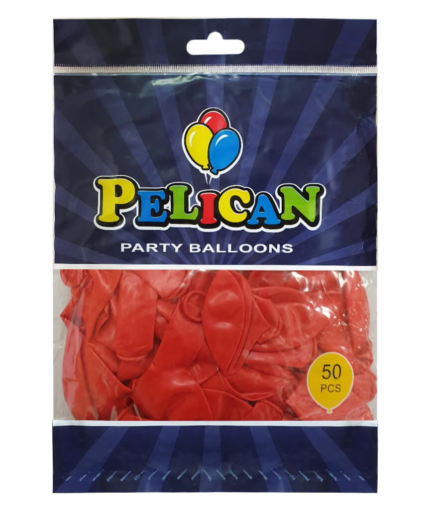 Шарики Pelican 10' (26 см), перламутр красный2 1050-731, 50шт/уп