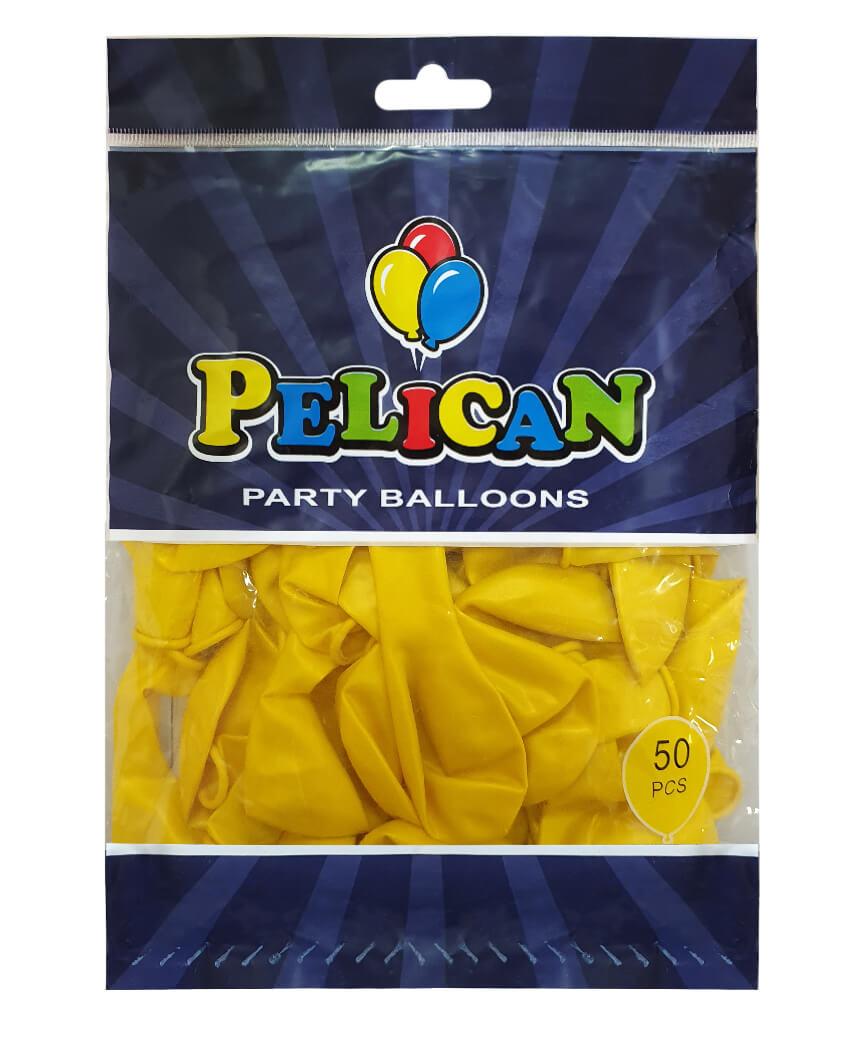 Шарики Pelican 10' (26 см), перламутр желтый2 1050-741, 50шт/уп