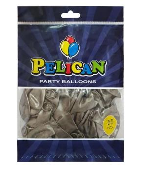 Купить Шарики Pelican 10' (26 см), перламутр серебро2 1050-744, 50шт/уп