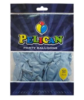 Купить Шарики Pelican 12' (30 см), перламутр голубой 1050-748, 50шт/уп
