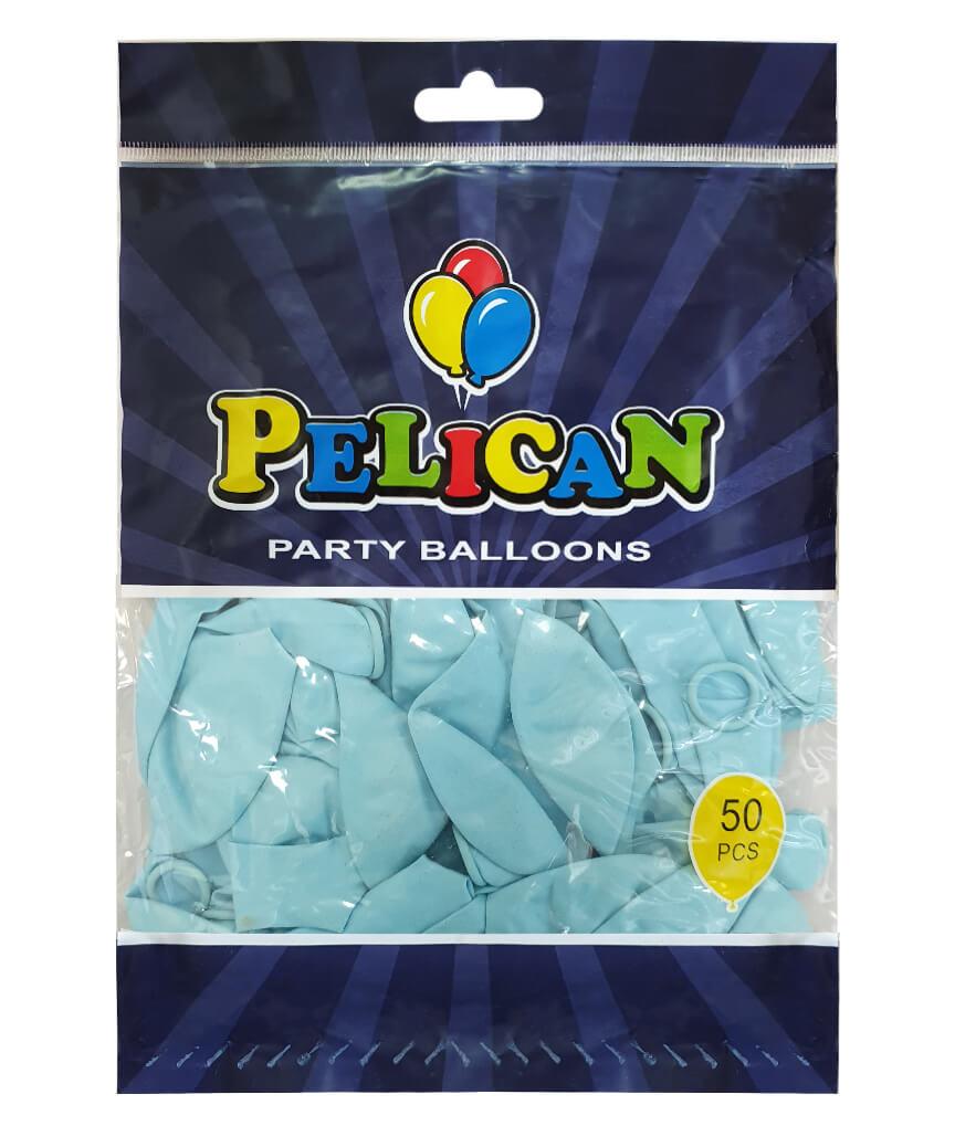 Шарики Pelican 10' (26 см), пастель голубой 1050-802, 50шт/уп