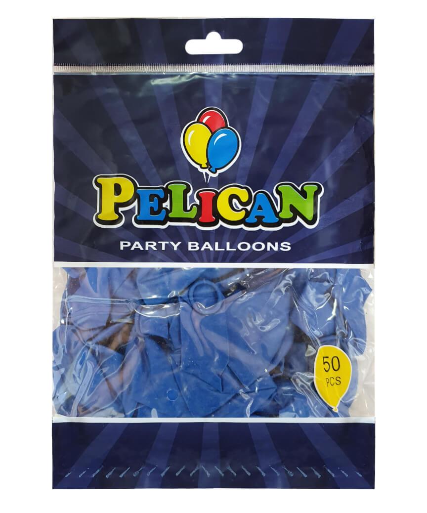 Шарики Pelican 10' (26 см), пастель синий 1050-804, 50шт/уп