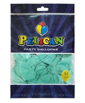 Купить Шарики Pelican 10' (26 см), пастель бирюзовый 1050-806, 50шт/уп
