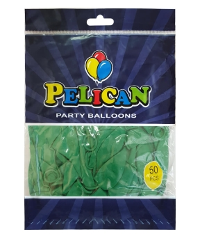 Купить Шарики Pelican 10' (26 см), пастель зеленый 1050-807, 50шт/уп