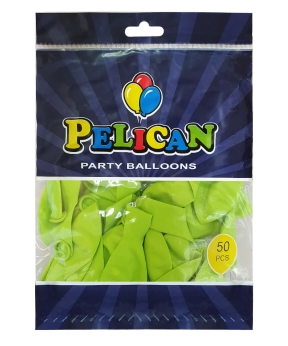 Купить Шарики Pelican 10' (26 см), пастель салатовый 1050-808, 50шт/уп
