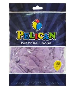 Купить Шарики Pelican 10' (26 см), пастель фиолетовый светлый 1050-810, 50шт/уп