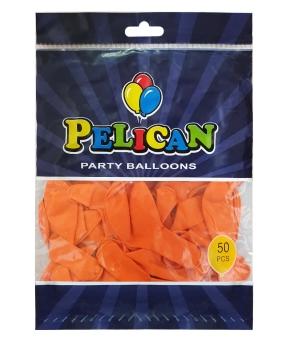 Купить Шарики Pelican 10' (26 см), пастель оранжевый 1050-811, 50шт/уп
