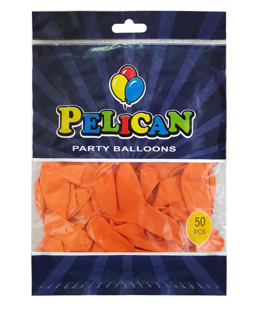 Шарики Pelican 10' (26 см), пастель оранжевый 1050-811, 50шт/уп