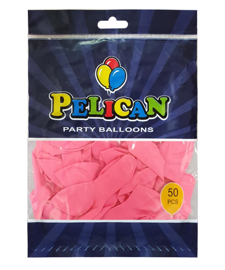 Шарики Pelican 10' (26 см), пастель розовый 1050-813, 50шт/уп