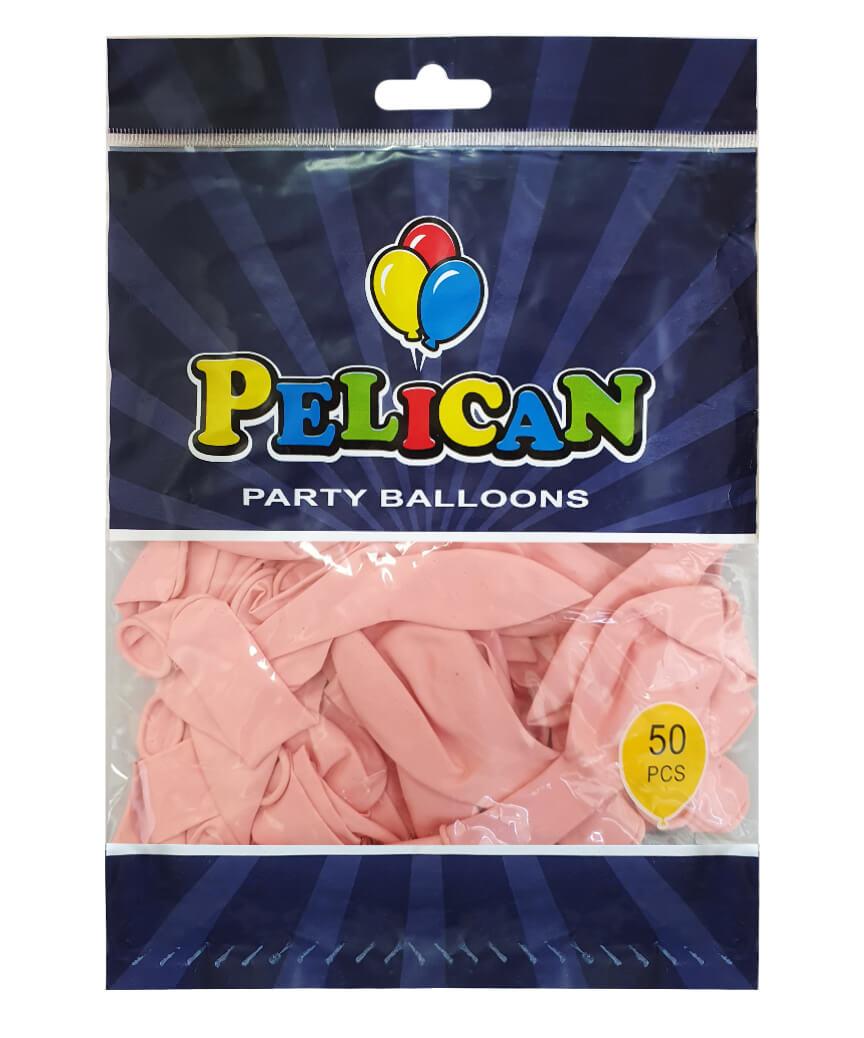 Шарики Pelican 10' (26 см), пастель розовый светлый 1050-814, 50шт/уп