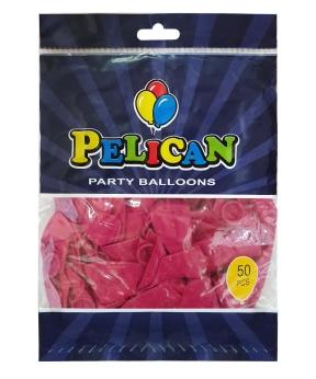 Купить Шарики Pelican 10' (26 см), пастель малиновый темный 1050-815, 50шт/уп