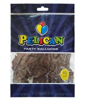 Купить Шарики Pelican 10' (26 см), пастель коричневый 1050-817, 50шт/уп