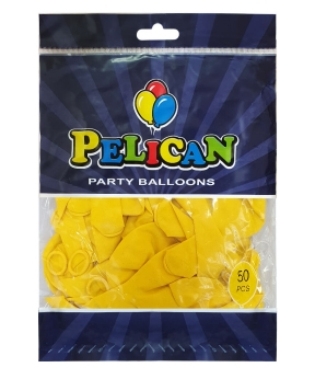 Купить Шарики Pelican 10' (26 см), пастель желтый 1050-818, 50шт/уп