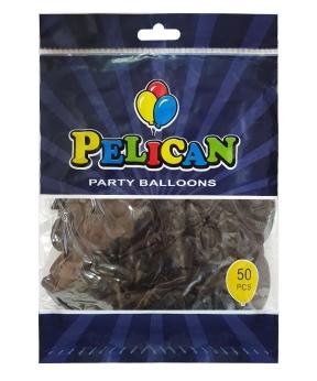 Купить Шарики Pelican 10' (26 см), пастель черный 1050-821, 50шт/уп