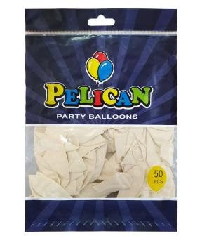 Купить Шарики Pelican 10' (26 см), пастель белый 1050-822, 50шт/уп