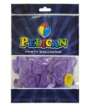Купить Шарики Pelican 10' (26 см), пастель фиолетовый 1050-835, 50шт/уп