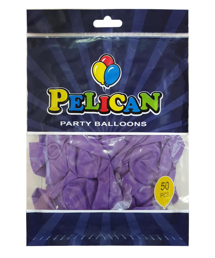 Шарики Pelican 10' (26 см), пастель фиолетовый 1050-835, 50шт/уп