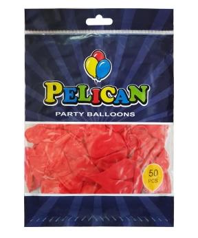 Купить Шарики Pelican 10' (26 см), пастель красный2 1050-837, 50шт/уп