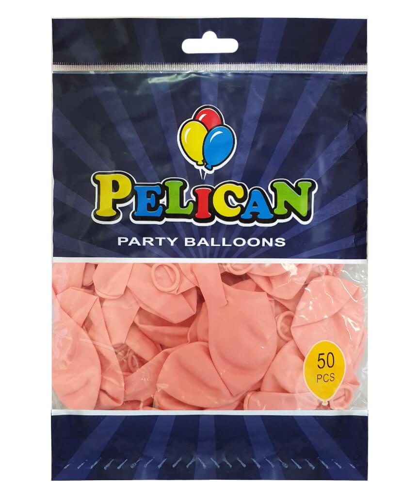 Шарики Pelican 10' (26 см), пастель розовый нежный 1050-839, 50шт/уп