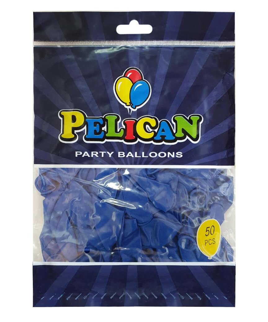Шарики Pelican 10' (26 см), пастель синий2 1050-843, 50шт/уп